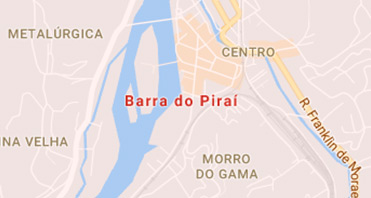Mapa da localização da Kraft Baterias em BARRA DO PIRAI