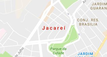 Mapa da localização da Kraft Baterias em Jacareí