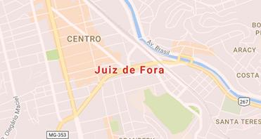 Mapa da localização da Kraft Baterias em JUIZ DE FORA